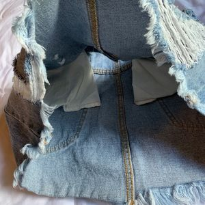 Forever 21 Skirts - Distressed Jean Skirt